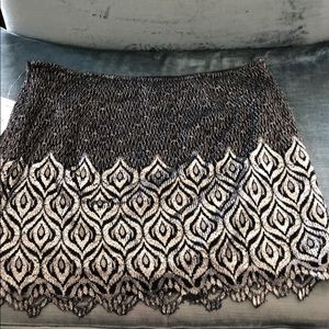 Free People Stunning Silver/Black Lace Skirt,10
